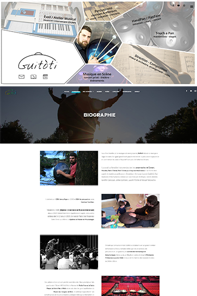 creation site web Graines de web GUITOTI hang handpan https guitoti fr 1